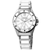 FIORUCCI 典雅時尚陶瓷腕錶(白)