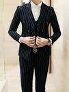 找到自己品牌 韓國男 舒適簡潔帥氣條紋 小西裝 修身西裝 西裝外套 單件外套