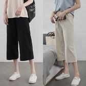 棉麻裤 休閒直筒寬管褲女2020年春季新款小個子寬鬆夏季薄款高腰棉麻褲子