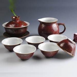 高檔龍泉 活瓷德瓷 浮雕龍茶具套裝