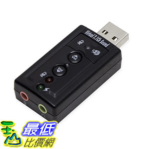 [美國直購] SYBA SD-CM-UAUD71 音源轉接頭 Virtual 7 Surround Sound USB External Adapter for Windows Mac_TC2