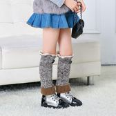 女襪套 襪子 秋冬針織毛線蕾絲花邊加厚保暖麻花堆堆運動襪套【多多鞋包店】ps1630