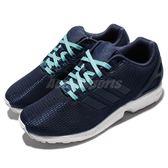 【六折特賣】adidas 休閒慢跑鞋 ZX Flux W 藍 白 基本款 運動鞋 女鞋【PUMP306】 S78971