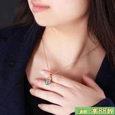 鍍金項鍊 - 禮物首飾鍍金歐美時尚鋯石貓眼石短版鎖骨項鍊 女 送女友