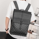 背包時尚格紋韓版流行包電腦包時尚流行