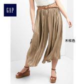 Gap女裝 褶飾寬腿長褲 788014