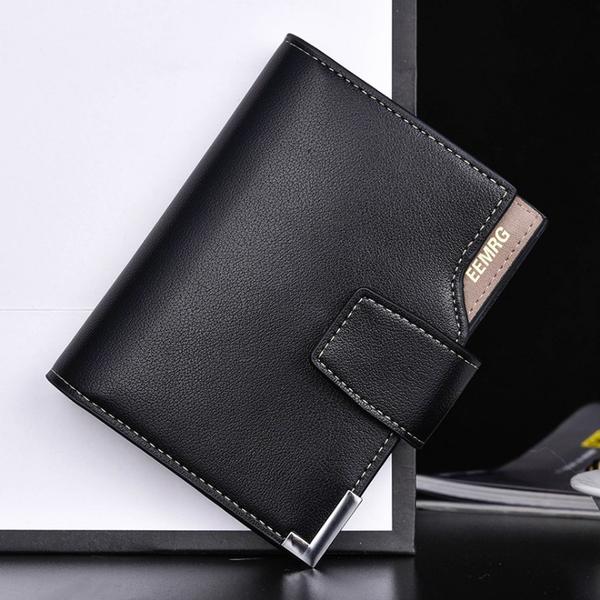皮包 極簡鈕扣皮夾 短皮夾 簡約 皮革 男皮夾 包包 零錢包 手機包 長包 錢包 男用錢包 短夾 9092