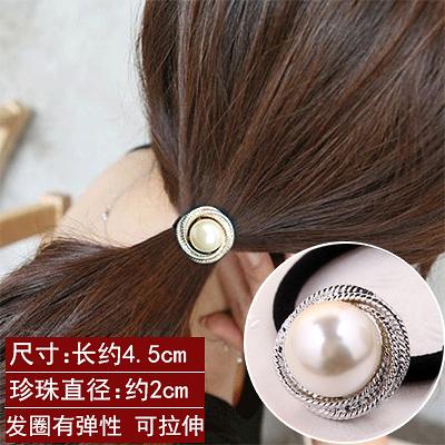 頭飾 珍珠 蝴蝶結 髮飾76030  2個價
