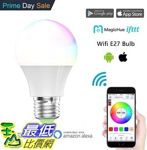 [7美國直購] 智能燈 Magic Hue Smart LED Light Bulb Multicolored Dimmable 40 Watt Equivalent