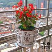 鐵藝陽臺掛式欄桿裝飾花盆架懸掛多層花架子【君來佳選】