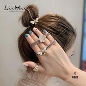 買一送一 甜美花朵頭繩女可愛扎頭髮皮筋髮圈韓國頭飾髮繩【愛物及屋】