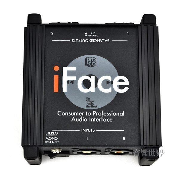 音響世界。美國Pro Co iFace被動式立體訊號DI Box。阻抗轉換器‧Made in USA