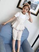 女童洋氣韓版兒童兩件套潮衣中大童洋氣時髦套吾本良品