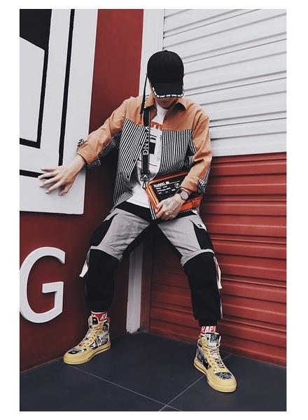 男士靴子 秋冬季馬丁靴男鞋高幫英倫戶外工裝潮流百搭休閑板鞋男士黃色潮鞋-【快速出貨】