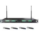 MIPRO ACT-314 / ACT-32H*4 1U 4CH 模組化自動選訊無線麥克風系統(新系統)
