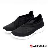 【AIRWALK】波浪編織健走鞋-黑-女款