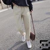 日系老爹褲直筒工裝褲夏季哈倫褲休閒褲子女寬鬆薄款【左岸男裝】