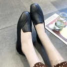 小香風單鞋子女新款春季網紅平底豆豆鞋晚晚風溫柔軟底奶奶鞋