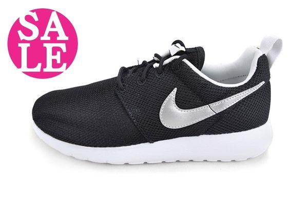 NIKE休閒鞋 ROSHE ONE(GS) 運動鞋 女款 百搭 熱銷 慢跑鞋 零碼出清 M7274#黑銀 OSOME奧森童鞋