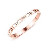 【5折超值價】【316L西德鈦鋼】日韓流行款羅馬數字造型鈦鋼手環