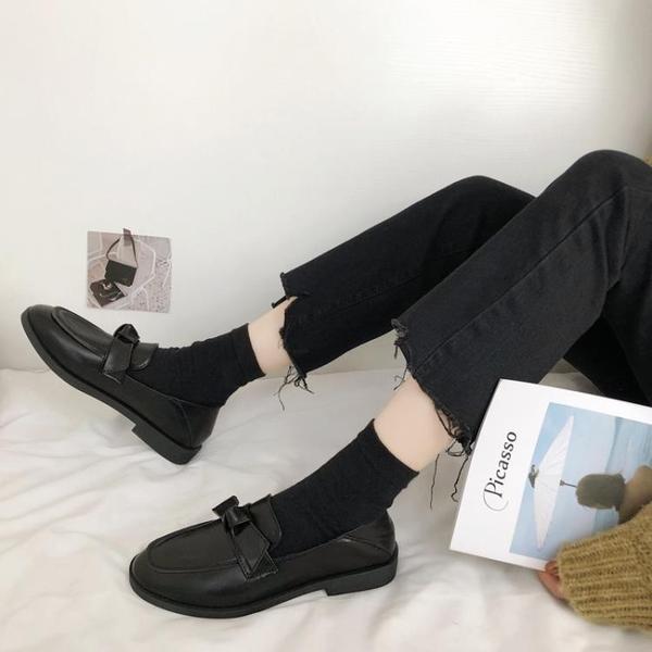 牛津鞋 小皮鞋女復古英倫風2020春秋季新款韓版百搭網紅學生樂福鞋單鞋子