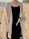 罩衫 防曬衣外套女新款韓版時尚鏤空百搭中長款蕾絲仙女開衫上衣潮 韓菲兒