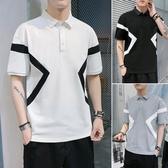 夏季薄款有領純棉POLO衫翻領寬鬆短袖T恤男士潮牌潮流上衣ins網紅 印象家品