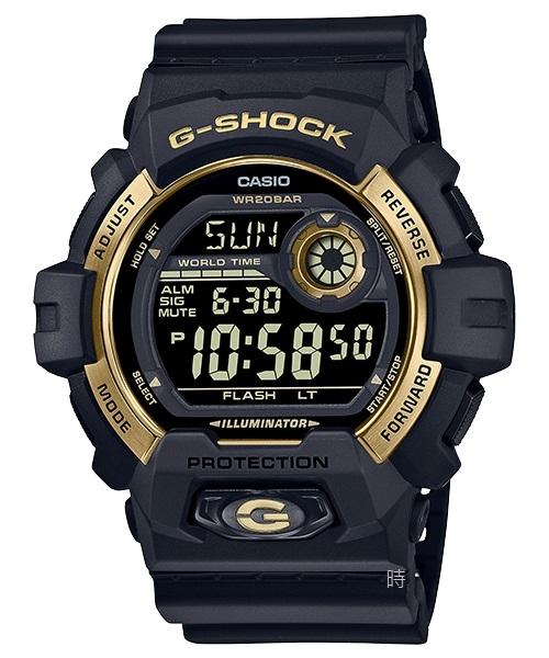 CASIO 卡西歐 G-SHOCK 運動 G-8900GB-1 黑金 經典 手錶