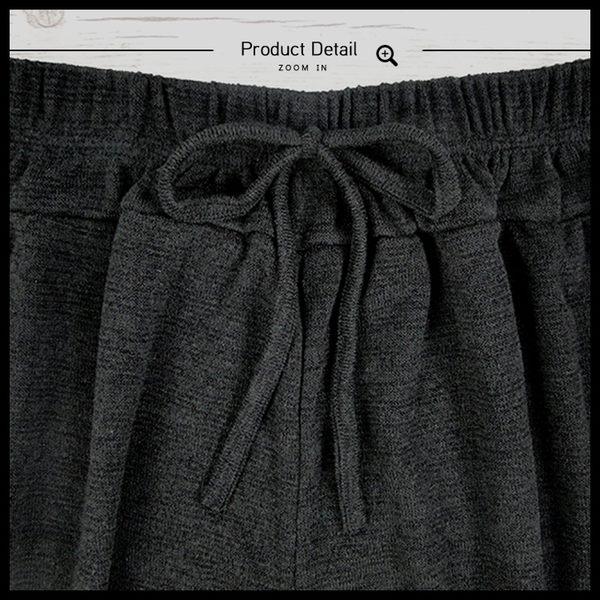 Melek 寬褲類 (共2色) 現貨 【B09160923-0201.02-F】女W長褲針織綁繩 寬褲/針織褲/綁帶