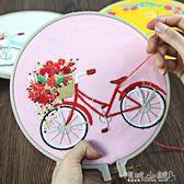 DIY刺繡 刺繡diy自行車歐式繡花編織手工創意制作材料包成人初學立體線繡 傾城小鋪