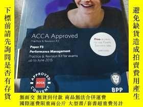 二手書博民逛書店ACCA罕見F5 Performance Management: