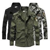自由騎士戶外迷彩襯衣男女101空降師棉質兩穿型長袖襯衫軍迷