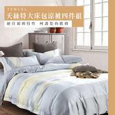 天絲/專櫃級100%.特大床包涼被四件組.獨立小調/伊柔寢飾