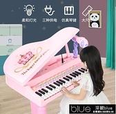 兒童電子琴 兒童電子琴女孩鋼琴話筒 初學可彈奏充電寶寶益智3-6周歲音樂玩具