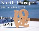 North Europe-北歐風字體熱墊板 隔熱墊 【LOVE】