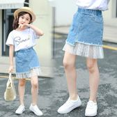 女童牛仔裙子2019新款薄款小女孩夏裝半身兒童洋氣夏款中大童短裙