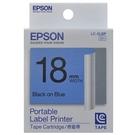 標籤色帶 LC-5LBP S626006 (藍底黑字/18mm)