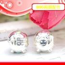 銀鏡DIY S990純銀材料配件/可愛Q版亮面福字小豬墜飾B(穿式)~適合手作蠶絲蠟線/幸運衝浪繩(非合金)