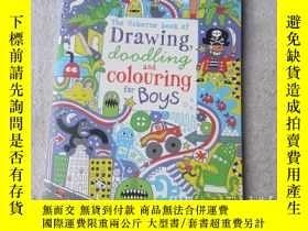 二手書博民逛書店Drawing,罕見Doodling and Colouring