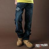 Big Train BLACK BICKER潮洗垮褲-中藍-BM6116