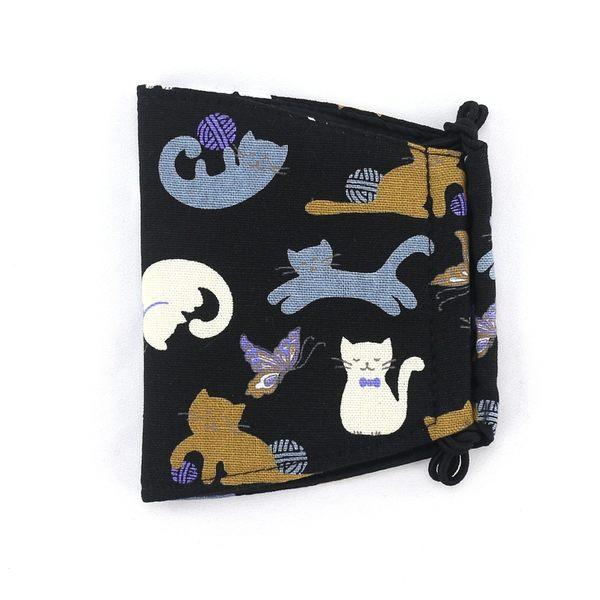 口罩 包包 防水包 雨朵小舖雨朵防水包 N036-467 布面大人口罩-黑線球笑笑貓14227 funbaobao
