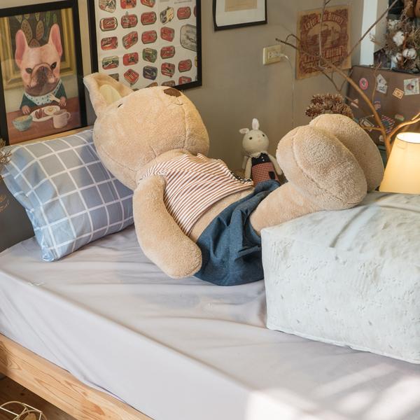 豆腐抱枕(小)  觸感扎實 造型可愛 北歐風 台灣製造 棉床本舖