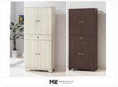 【MK億騰傢俱】ES515-1G日式和風雪杉白/胡桃色3*6尺高鞋櫃