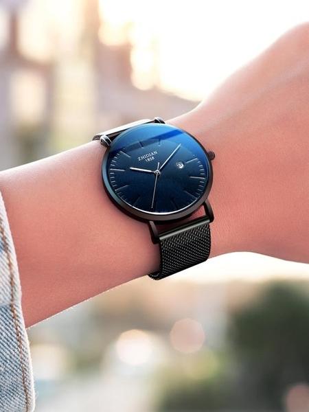 新概念超薄時尚潮流學生手錶男士全自動非機械防水瑞士DW男錶  ATF  夏季新品