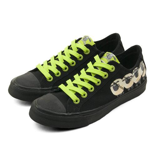 LIKA夢 PONY 經典時尚帆布鞋 SHOOTER 笑笑羊系列 黑綠 51U1SH61BK 女 6折好康