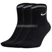 【三雙一組】Nike 襪子 Dri Fit Cushion Crew Socks 黑 白 基本款 短襪 運動襪 男女款【ACS】SX4793001_3