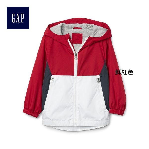 Gap男嬰幼童 柔軟舒適拼色防風外套 214910-鮮紅色