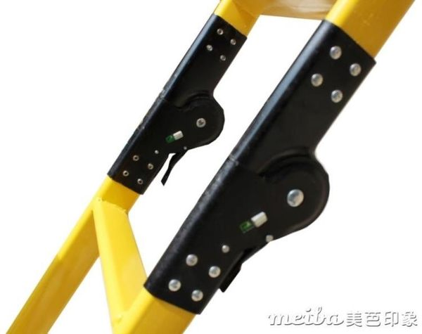 摺疊家用步步高鋼管閣樓兩用關節工程梯人字梯子QM 美芭