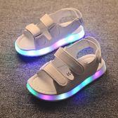 兒童男涼鞋 2018新款韓版夏季閃燈鞋露趾小孩寶寶中小童兒童軟底鞋 雙12快速出貨八折下殺