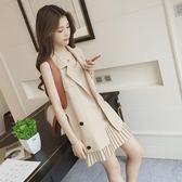 洋裝套裝 小西裝吊帶裙子兩件套裝海邊度假時尚631-406 巴黎春天